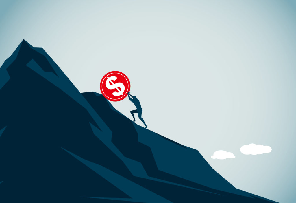 Climbing a mountain of debt